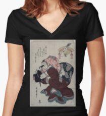 Amagoi komachi 001 Women's Fitted V-Neck T-Shirt