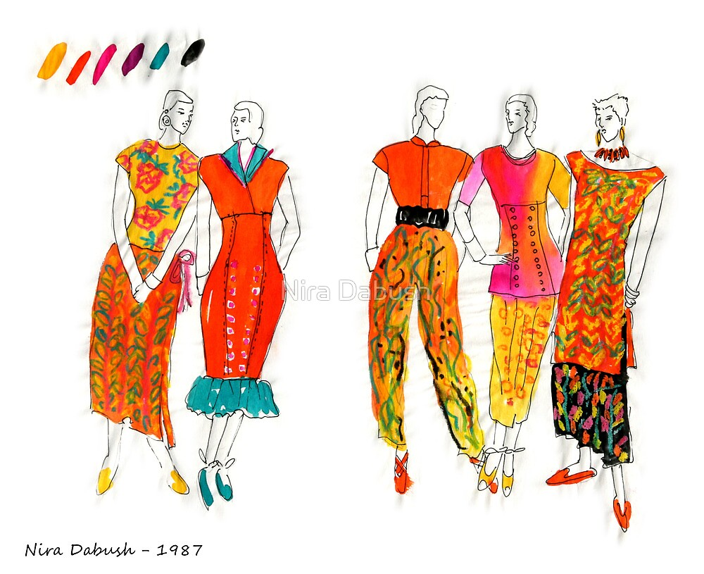 Fashion Illustrations- 1987 by Nira Dabush
