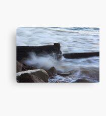 Old Breakwater at Balnarring Beach Canvas Print