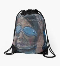 the dove - la paloma Drawstring Bag