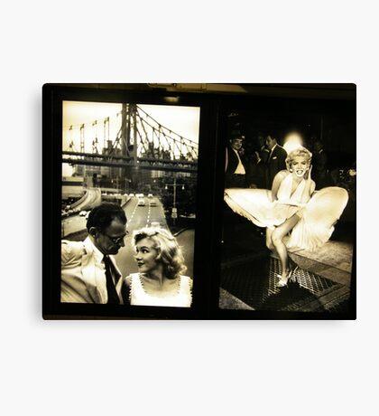 """Marilyn in New York"", Sam Shaw Photographer, Photography Exhibit in New York Subway, New York City Canvas Print"