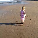 Girl on the beach by Robert Steadman