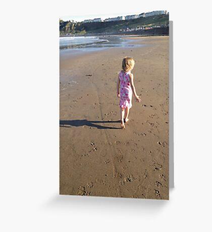 Girl on the beach Greeting Card