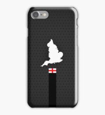 England Flag and Map - Black Stripe on Dark gray iPhone Case/Skin