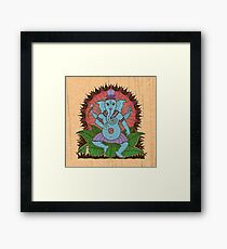 peace ganesh parchment Framed Print