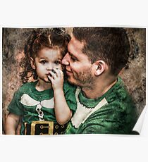 Papa & Lilly Elf Poster