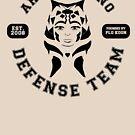 Ahsoka Tano Defense Team (black text) by houseorgana