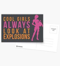 Cool Girls Always Look at Explosions Postcards