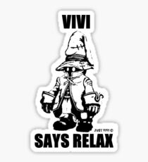 Vivi Says Relax - Monochrome Sticker