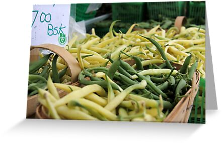 Fresh Beans at the Market  by Rich Fletcher