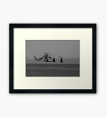 Black and White Shrimper  Framed Print