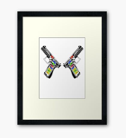 Gummies Blazin' Framed Print