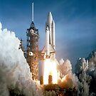 STS-1 Pre-Launch # 2 iPad Case by ipadjohn