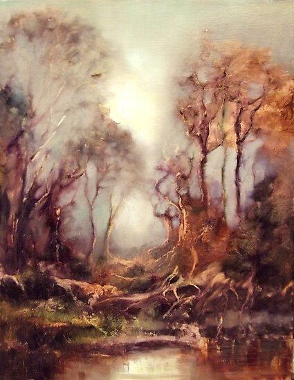 Woodland Dawn by C Elsip