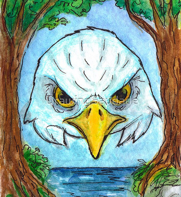 Eagle Mask by DrawingSaudade