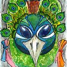 Peacock Mask by DrawingSaudade