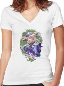 JoJo's Bizarre Adventure - Gyro Women's Fitted V-Neck T-Shirt