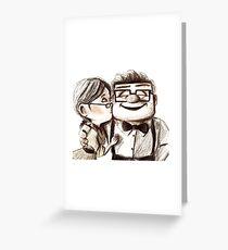Carl and Ellie hugs Greeting Card
