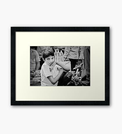The Glow in his Eyes Framed Print