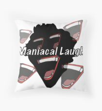 Maniacal Laugh Throw Pillow