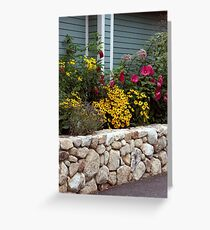 Island Rock Garden Wall Greeting Card