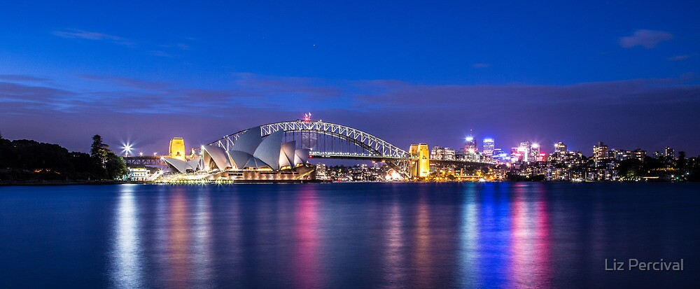 Sydney Harbour Panorama by Liz Percival