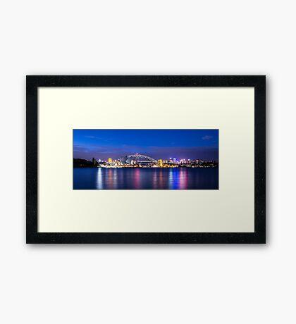 Sydney Harbour Panorama Framed Print