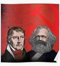HEGEL AND MARX, communist philosophers Poster