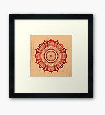 omulyana red mandala Framed Print