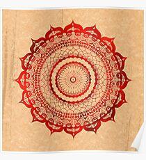 omulyana red mandala Poster