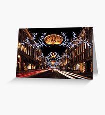 Christmas Day. Regent Street. Greeting Card