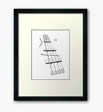 Bass Framed Print