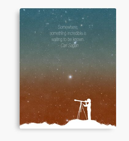 Through the Telescope Canvas Print