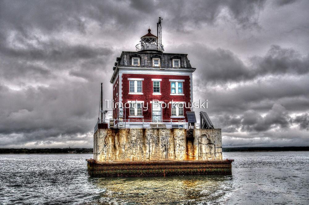New London Ledge Lighthouse (Color) by Timothy Borkowski