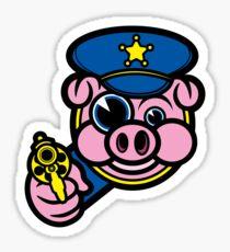 PIGGY COP Sticker