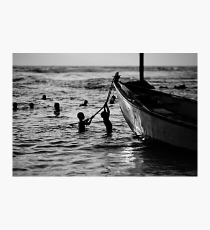 silhouettes in water Photographic Print