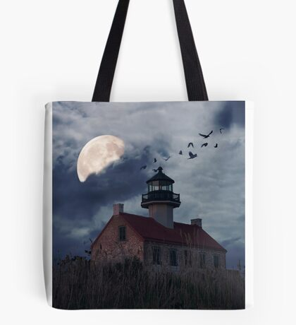 Moonlight At East Point Tote Bag