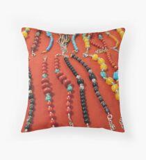 Sacred Mala Beads Throw Pillow