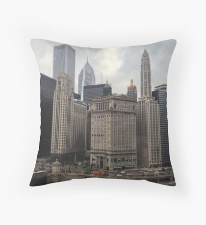 A Perspective of the City (2) Throw Pillow
