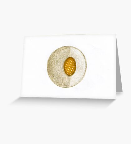 Abstract Fruit Pit Greeting Card
