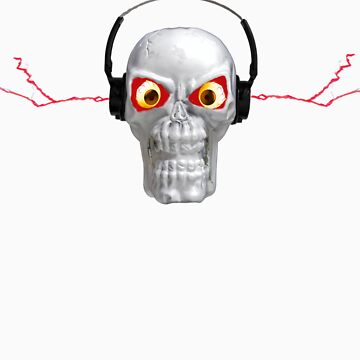 skull and headphones by coxon