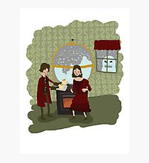 Snowglobes and Souffle Girl Photographic Print