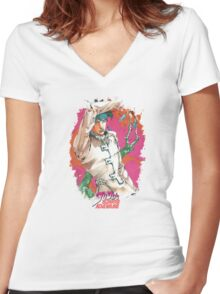 JoJo's Bizarre Adventure - Rohan Women's Fitted V-Neck T-Shirt