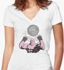 fullmetal alchemist Armstrong Disco Women's Fitted V-Neck T-Shirt