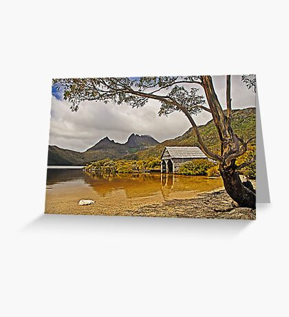 Boatshed Beach, Dove Lake, Cradle Mountain Greeting Card