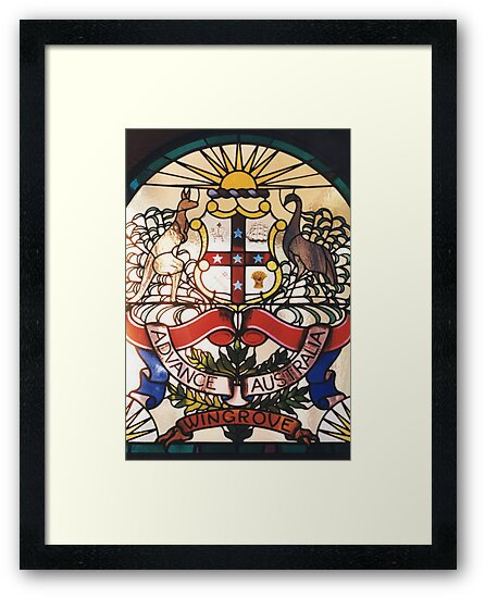 Coat of Arms in Glass by Jeffrey Hamilton