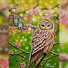 Owl Family: iPad 2/ iPad (Retina Display) case by Emi Nakamura