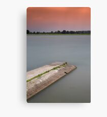 Sunset on the lakes of Mantua Canvas Print
