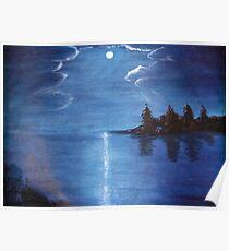 Moonlit Lake Poster