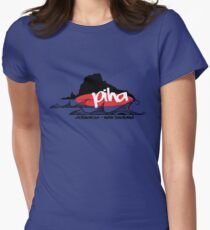 piha / lion  rock surf  Womens Fitted T-Shirt